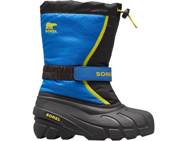 Sorel Flurry Stiefel Kinder black/super blue